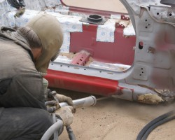 Обработка авто пескоструйным аппаратом