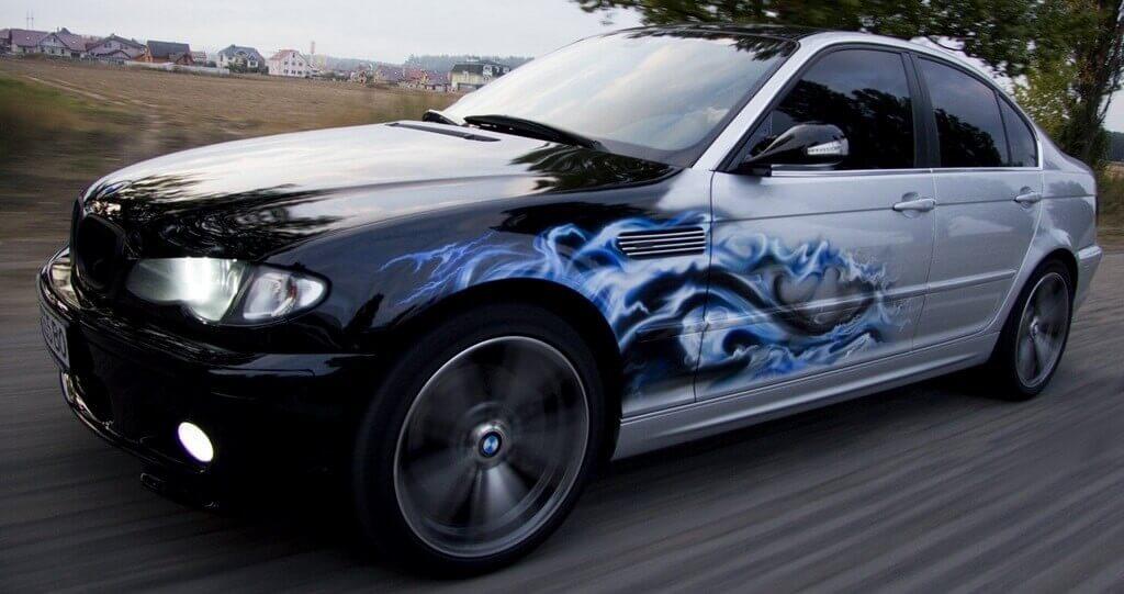 Нанесение рисунка на авто