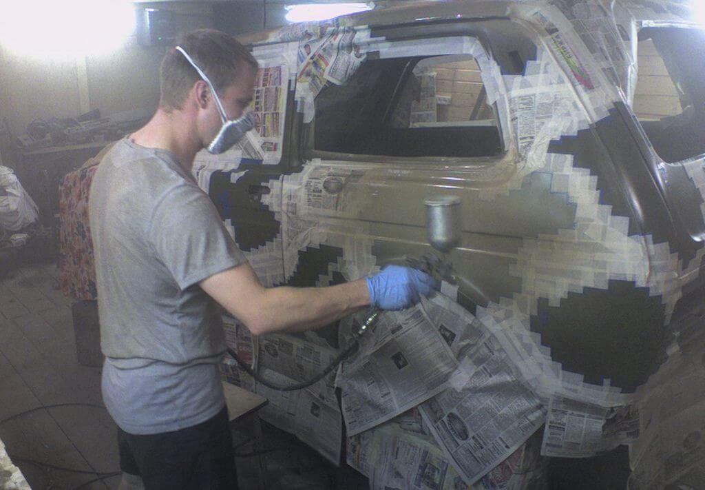 Покраска машины в камуфляж
