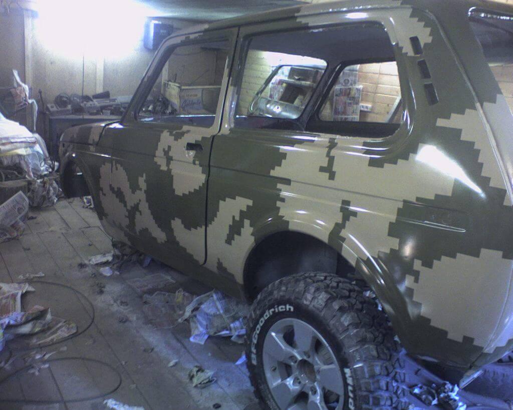 Покраска УАЗа в камуфляж своими руками - Ремонт и тюнинг кузова 163