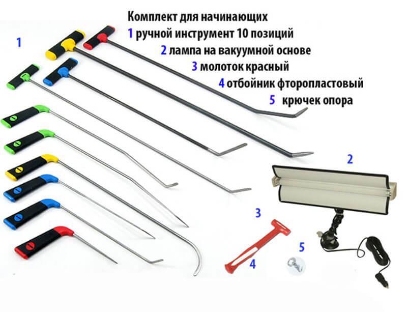 PDR инструмент, набор для новичков