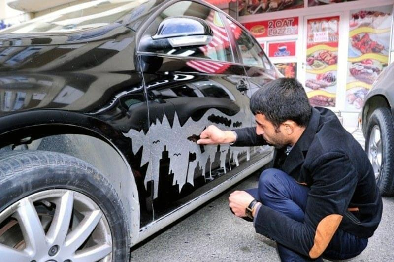 Как наклеить шаблон на авто своими руками