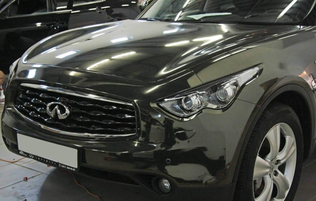 Перетяжка авто в черный хром