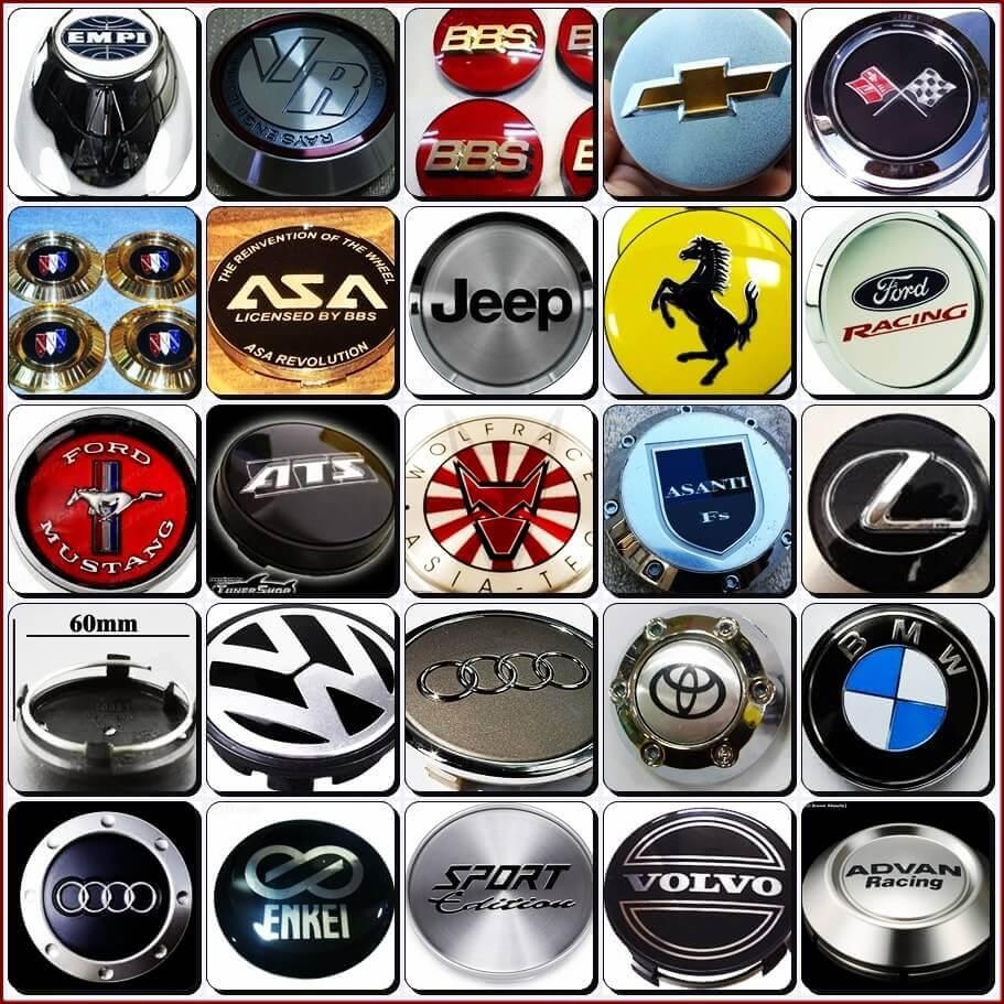 Заглушки для литых дисков с логотипом авто