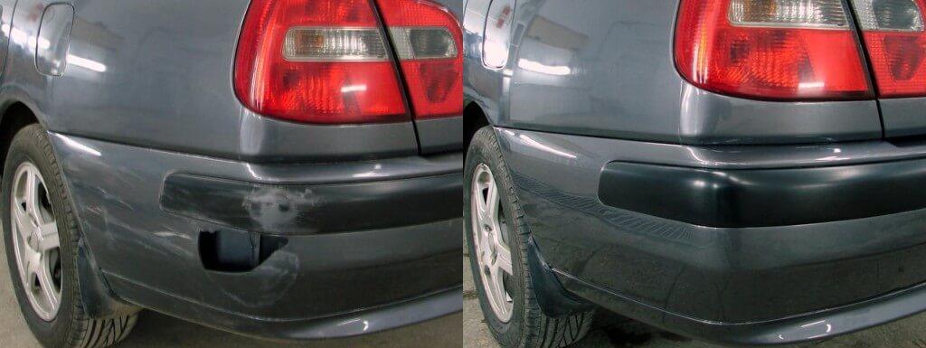 Ремонт пластика бампера авто