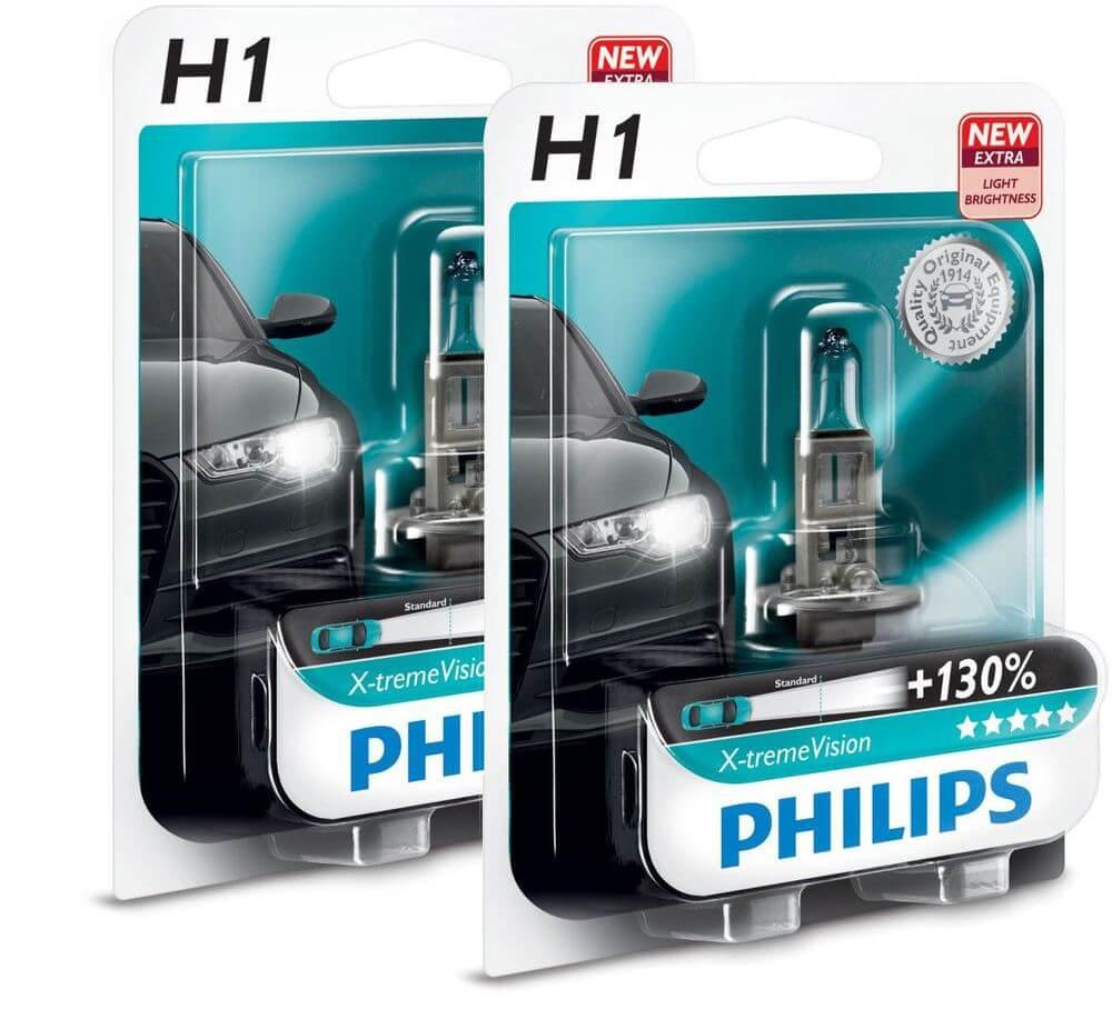 Лампы ближнего света Philips H1 (55) X-treme Vision