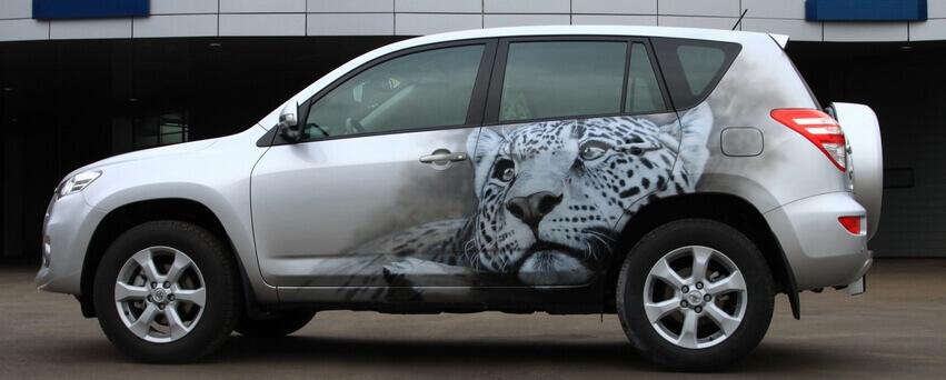 Нанесение рисунка на машину