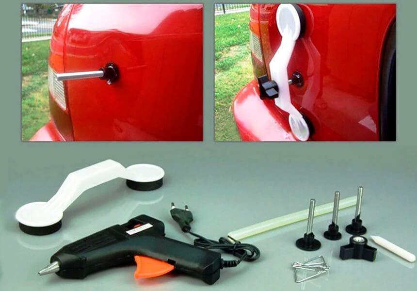 Инструмент для пезпокрасной рихтовки вмятин кузова и дверей