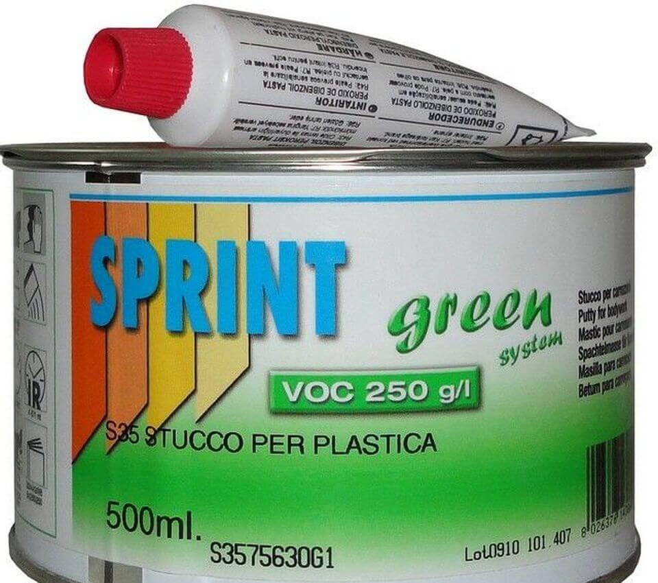 Шпатлевка для пластика Sprint