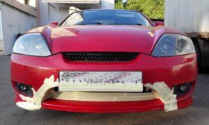 После окрашивания машины удаление скотча