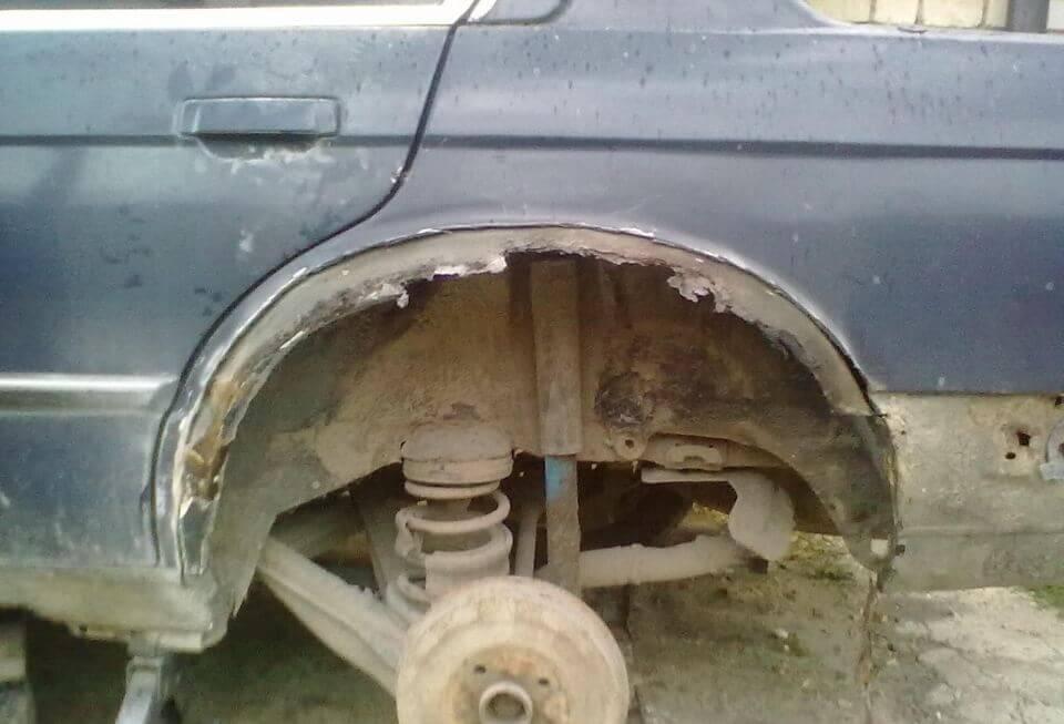 Колесные крылья и арки чаще всего подлежат ремонту
