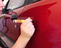 Восковой карандаш для удаления царапин на авто