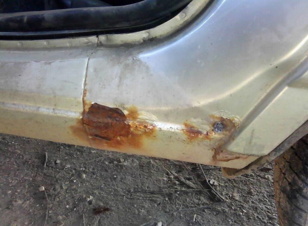 Ремонт ржавых дверей авто