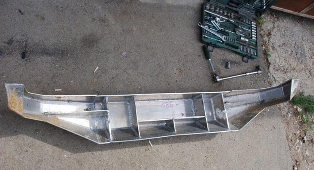Изготовление силового бампера на машину Нива Шевроле