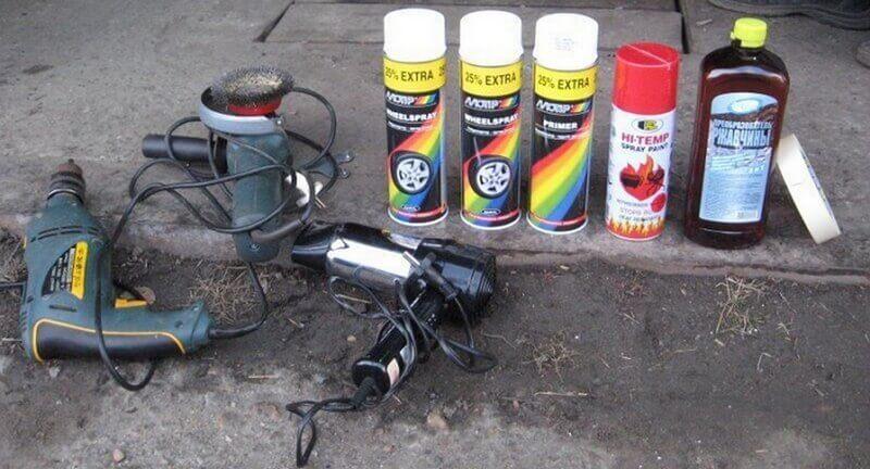 Расходные материалы для покраски дисков