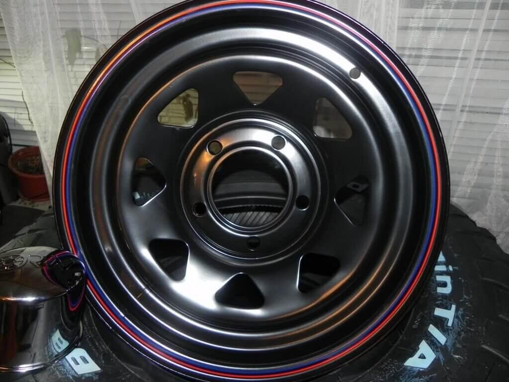Стильная покраска дисков в два цвета