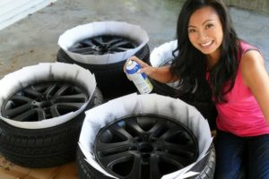 Покрасить диски на авто своими руками
