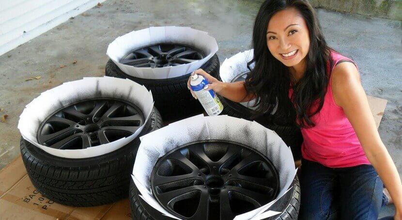 Покрасить диски авто своими руками