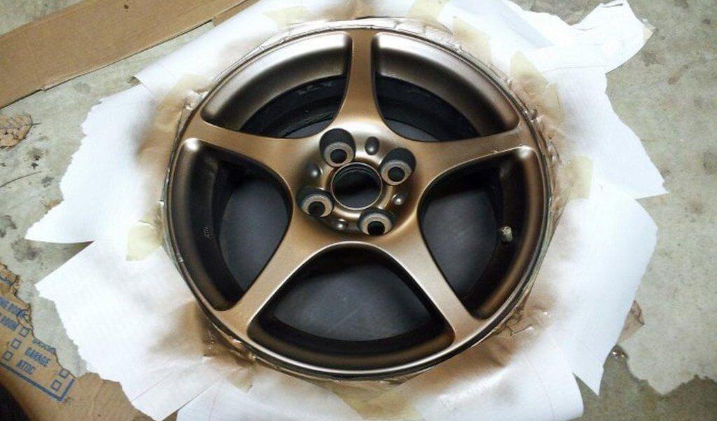 Окрашенный диск машины
