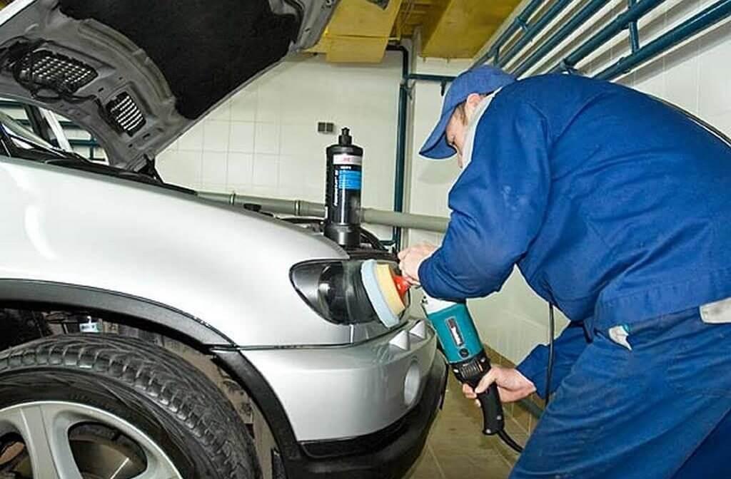 Полировка фар машины