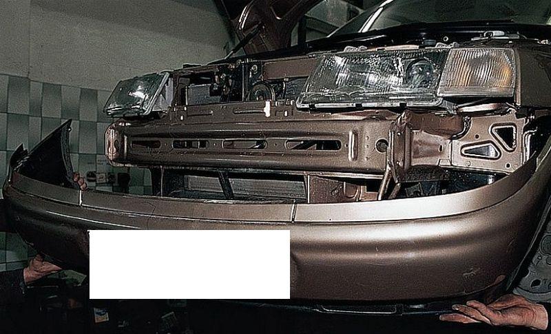Снятие переднего бампера на Ваз 2110