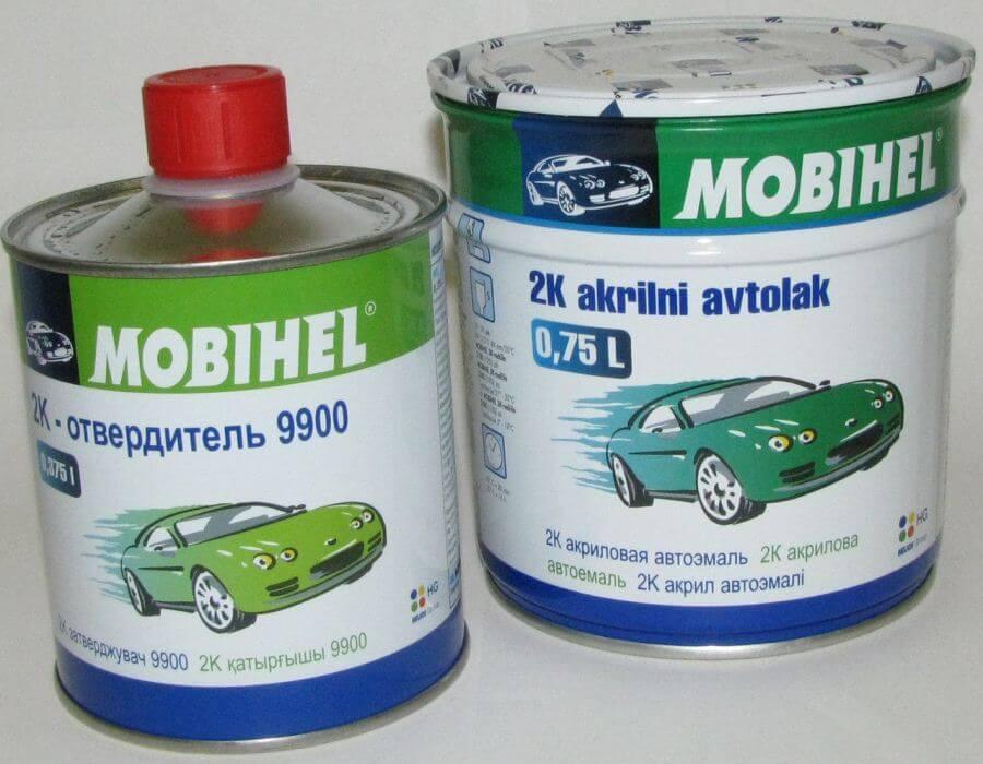 Двухкомпонентная краска для авто