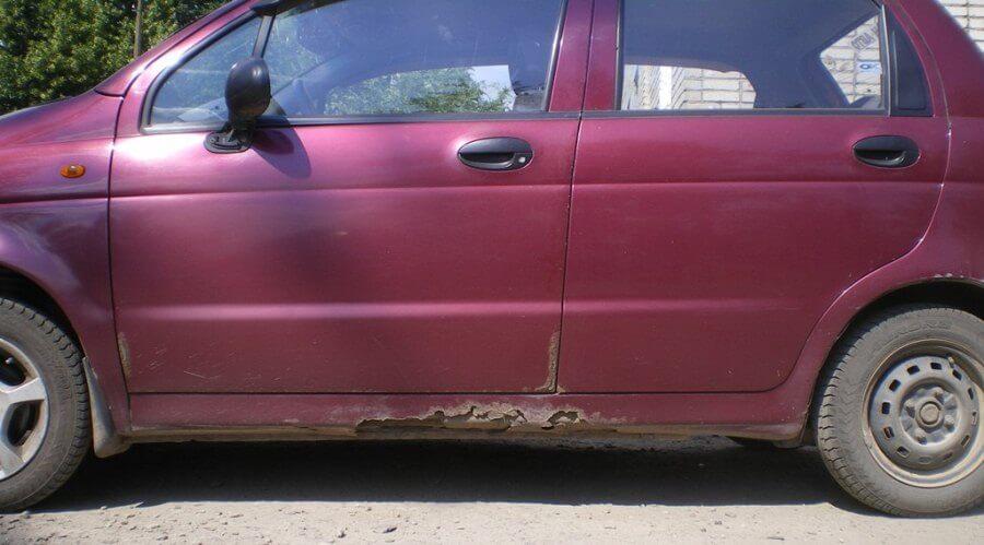 Типы повреждений автомобильных порогов