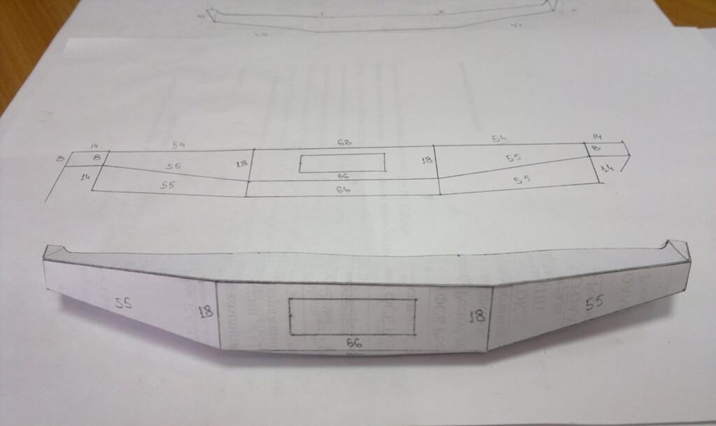 Силовой задний бампер на уаз-469 своими руками с чертежами
