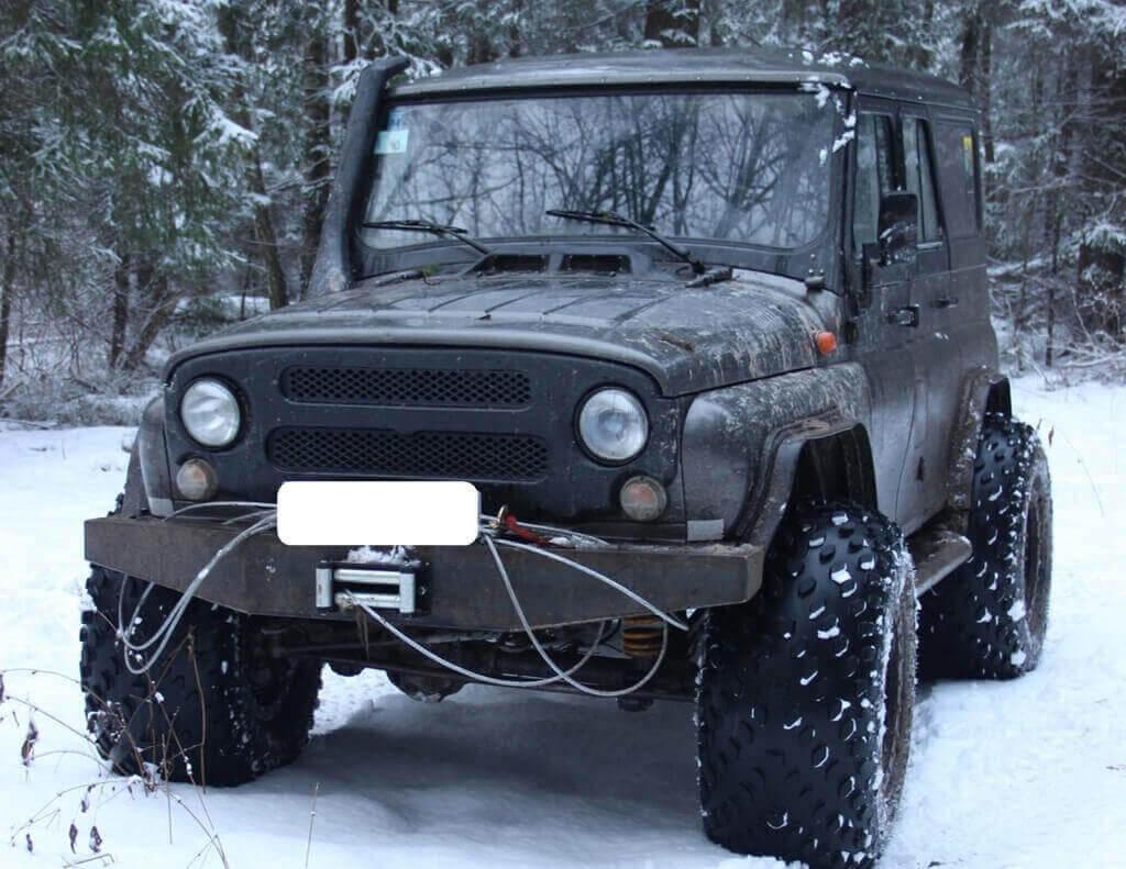 Силовой бампер на Уаз 469