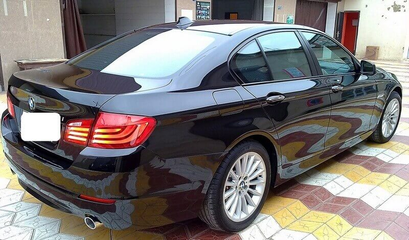 Автомобиль BMW 535i обработан защитной полиролью, Жидкое стекло