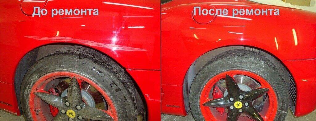 Локальная покраска машины