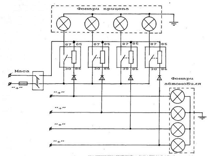 Электрическая схема блока согласования
