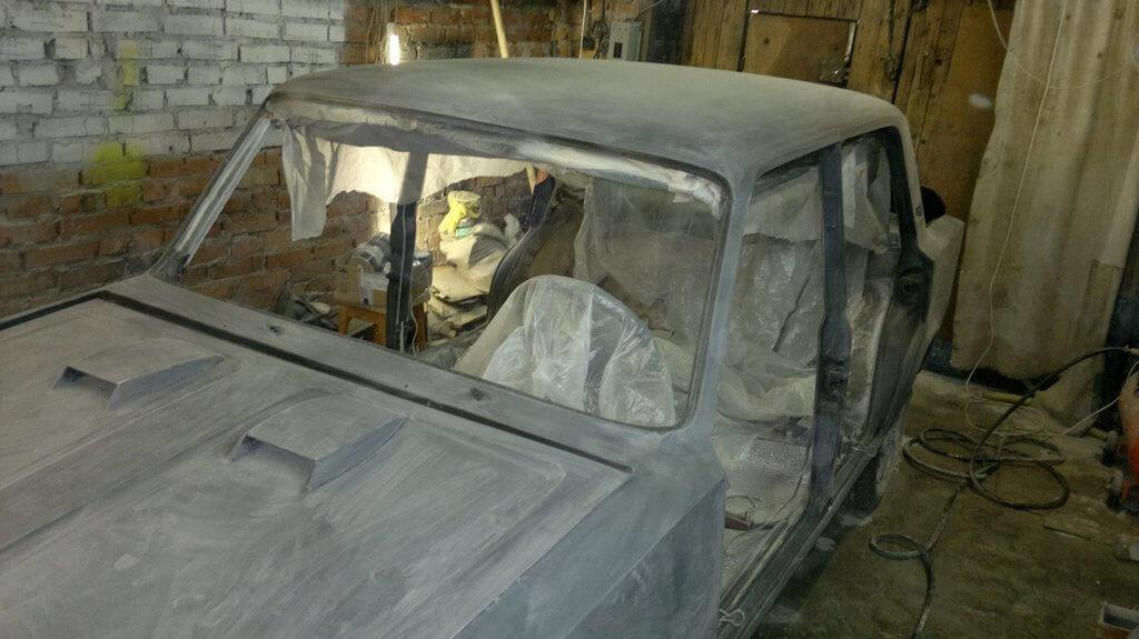 Покрасить в гараже своими руками 76