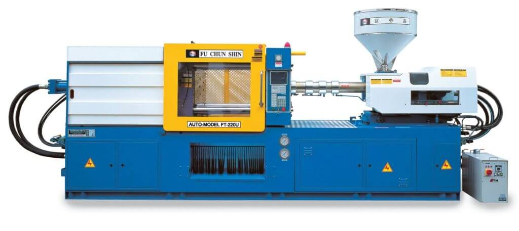 Инжекционно-литьевая машина, применяемая для изготовления деталей из термопластов методом литья под давлением