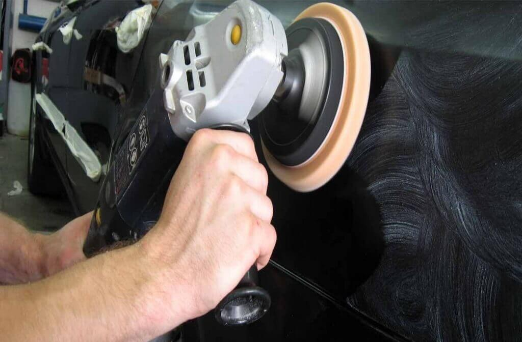 Полировка кузова автомобиля абразивной пастой