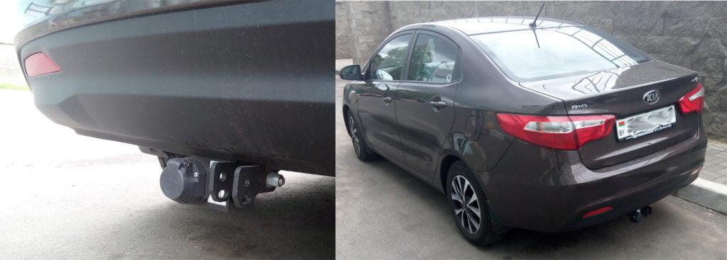 Фаркоп подразделяется на два устройства: одно закрепляется на машине, а другое на прицеп