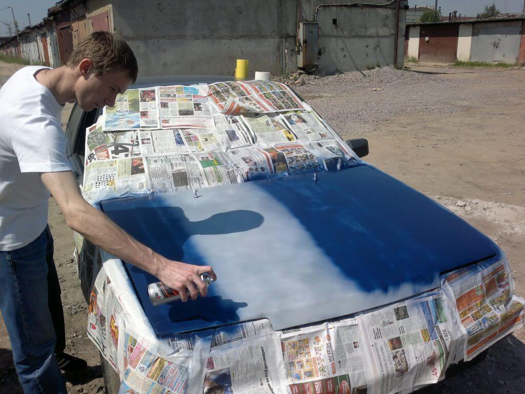 Как покрасить из баллончика своими руками