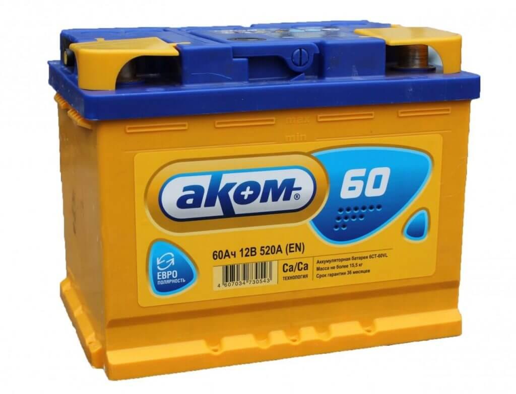 Аккумулятор Аком 60Ah